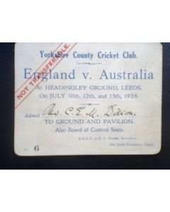 cricket match tickets