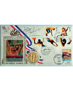 adrian moorhouse signed first day cover