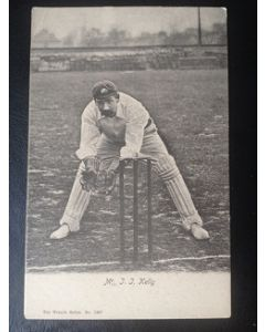 Cricket postcard, jj kelly wrench series