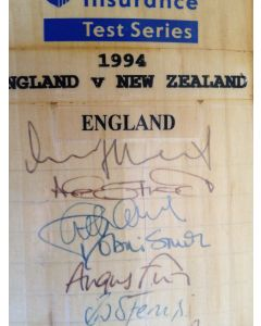 england v new zealand 1994 signed cricket bat 1