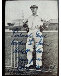 Bert Oldfield signed photo
