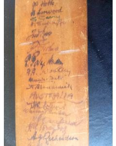 1926 England v Australia Signed cricket bat