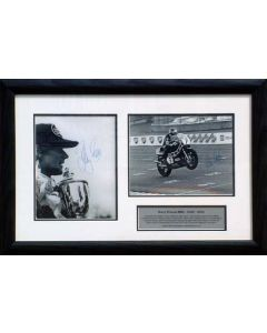 signed Barry Sheene memorabilia.