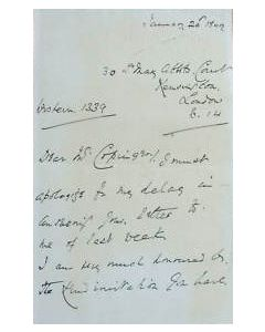 hand signed letter by english cricket captain view 2