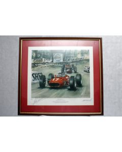John Surtees F1 Memorabilia signed framed picture