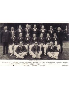 Australian Test Team 1938 Post Card - Real Photograph