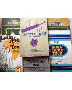 cricket memorabilia tour brochures