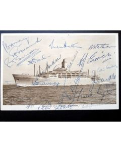 RMS ORSOVA SIGNED POSTCARD