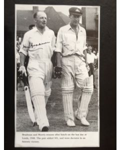 arthur morris don bradman signed picture