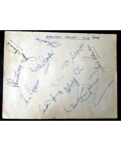 Middlesex cricket 12 autographs 1949