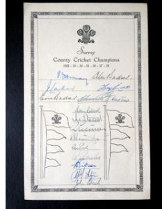 surrey ccc 1958 signed by 17
