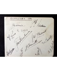 middlesex cricket autographs 1934