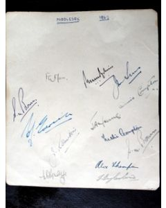 cricket autographs middlesex