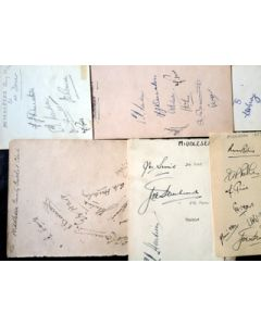 Middlesex ccc 35 autographs on selection of sheets