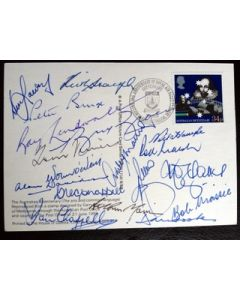 australian bicentenary postcard signed by 18