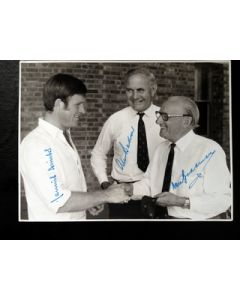 Bradman Amiss and Bedser Signed Photo