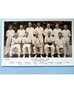 Middlesex CCC Real photo postcard 1947 by Bridgehouse