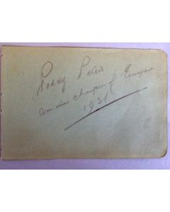 PADDY PETERS BOXING AUTOGRAPH