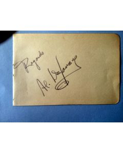 Al Delaney boxing autograph
