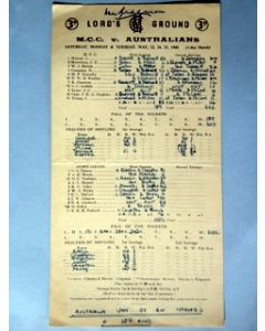 1948 official scorecard
