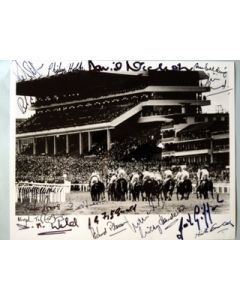 Horse Racing at Cheltenham signed by 17