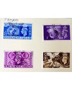 1948 olympic games full set of 4 stamps