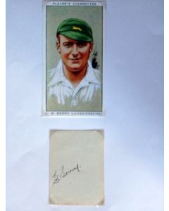 autographed cricket photo - les berry