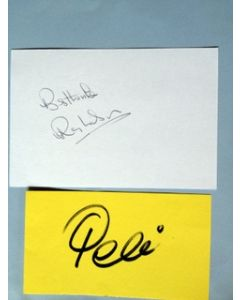 football autographs pele and ray wilson
