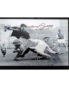 football autograph photo harry gregg