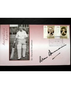 signed cricket photo alan davidson