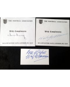 football autographs tom finney, nat lofthouse,wilf mannion