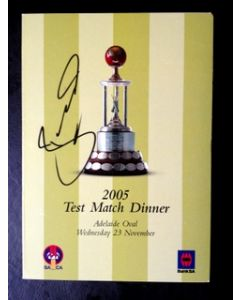 *Bradley Hodge Signed Test Match Dinner Menu Adelaide Oval