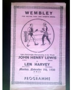 Lewis v Harvey Wembley Programme