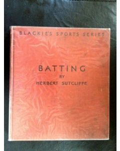"""Batting"" Signed by Herbert Sutcliffe - 1937"