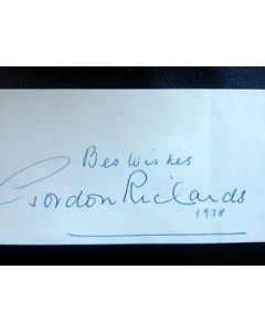 gordon richards autograph