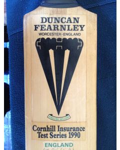 England v New Zealand 1990 Signed cricket bat 1