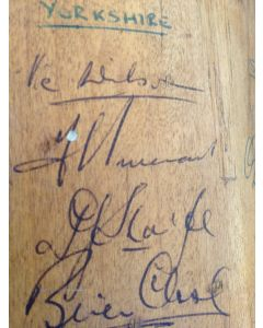 Signed Cricket Bat - 1963 Yorkshire, Surrey, Worcester & Hampshire 1
