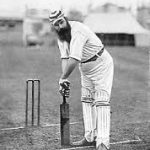 "WG Grace ""at the wicket"" excellent signed photograph"